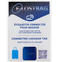 étiquette connectée pour bagage E-Lostbag.