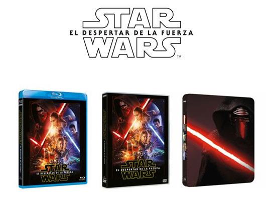 A la venta 'Star Wars: el despertar de la fuerza' en Caja Metálica, Blu-ray Combo Pack y DVD