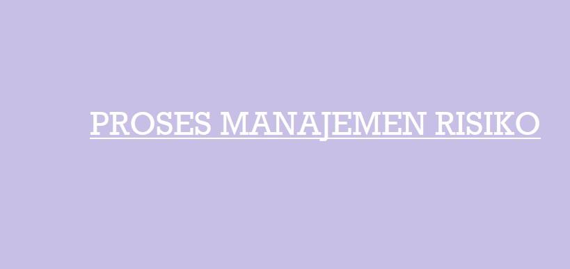 Proses Manajemen Risiko Perusahaan Dalam Ilmu Marketing