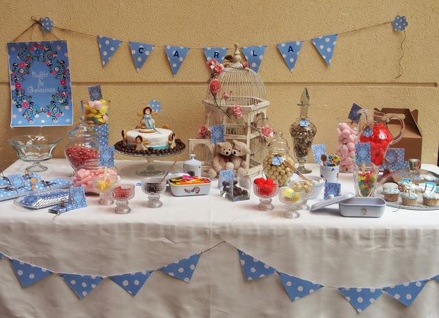 Manualidades e ideas para tus fiestas infantiles mesas - Decoracion de mesas de chuches para comunion ...
