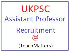 image : UKPSC Assistant Professor Result 2021 @ TeachMatters