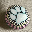 Pet rock, painted stone