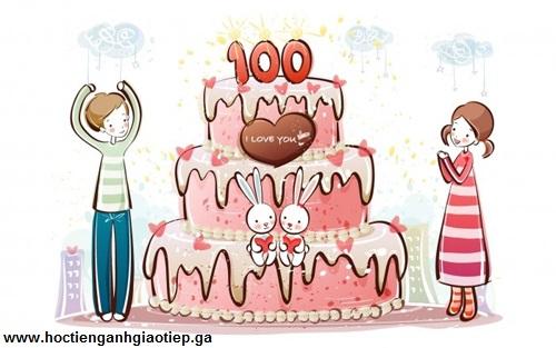 Những lời chúc sinh nhật ý nghĩa đối với người yêu bằng tiếng Anh