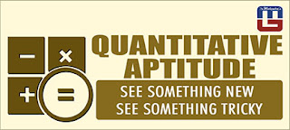 QUANTITATIVE APTITUDE QUESTIONS FOR SBI PO | 22 - APR - 17