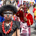 Papua traditional clothes in celebration of Independence Day of Indonesia