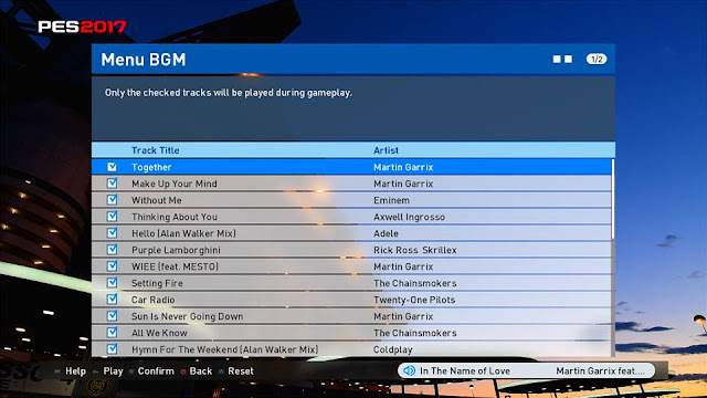 New EDM Playlist for PES 2017 and PES 2016 by rakka