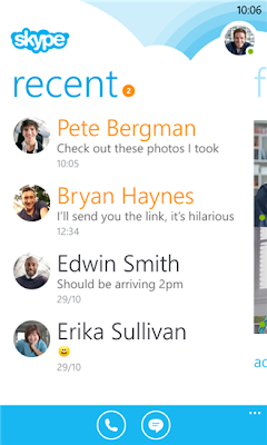 Skype v2.4 for Windows Phone 8