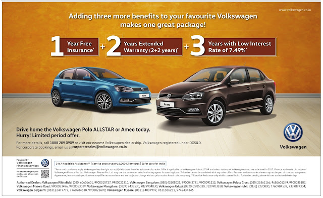 Volkswagen Polo & Ameo with Amazing offers | April 2017 summer discount offers