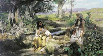 Christ and the Samaritan Woman - Artist Henryk Siemiradzki  1890