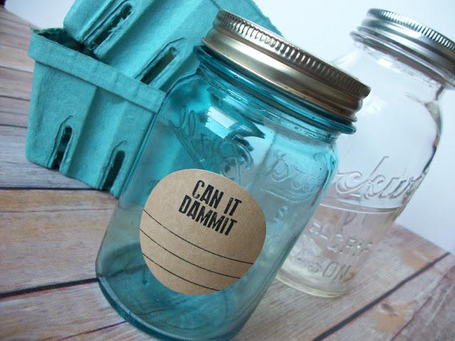 Kraft Can it Dammit Mason Jar Labels