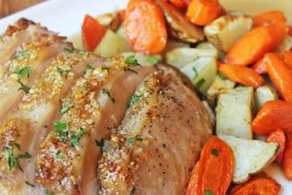 Brown Sugar Garlic Pork With Carrots And Potatoes