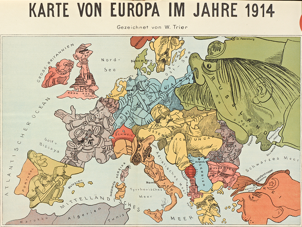 Map of Europe from Das Plakat #6