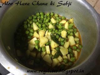 how to make aloo chole ki sabji