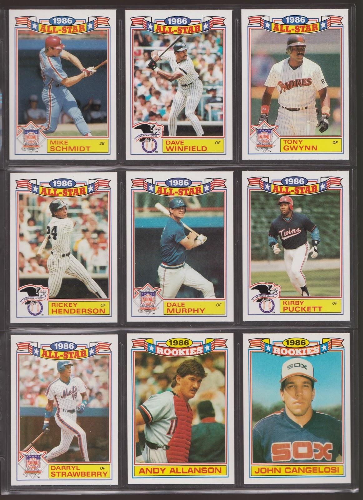 20th Century Topps Baseball 1987 Topps 86 Rookies