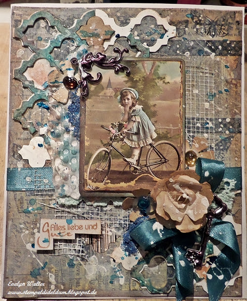 Tim Holtz inspired Card - DT work for Country View Challenges