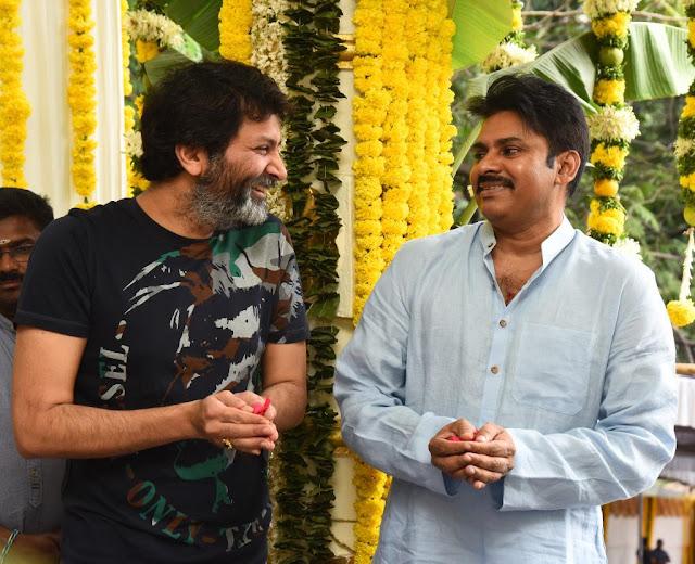 Pawan kalyan Trivikram New movie Launch HD Photos