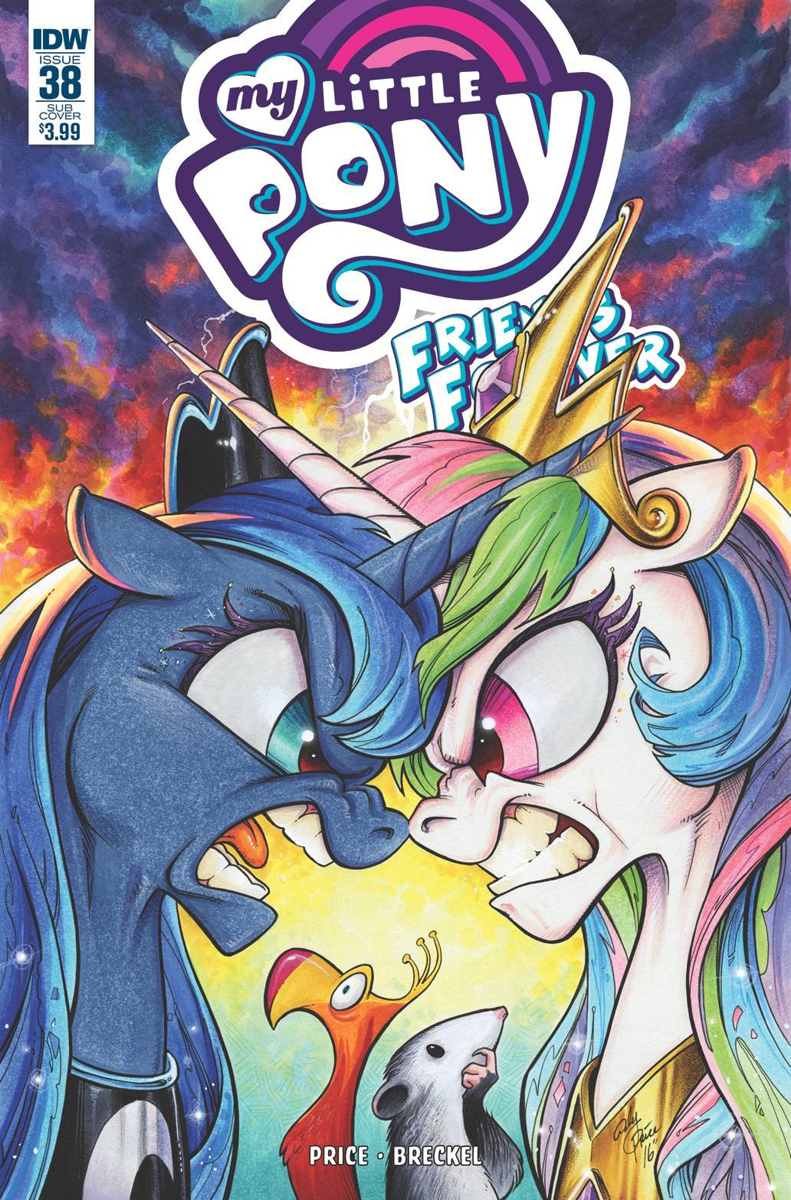 mlp friends forever issue  u0026 38 comic covers