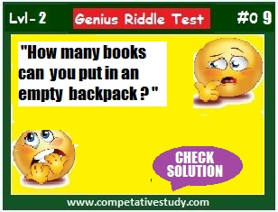 How many books can you put in an empty backpack?