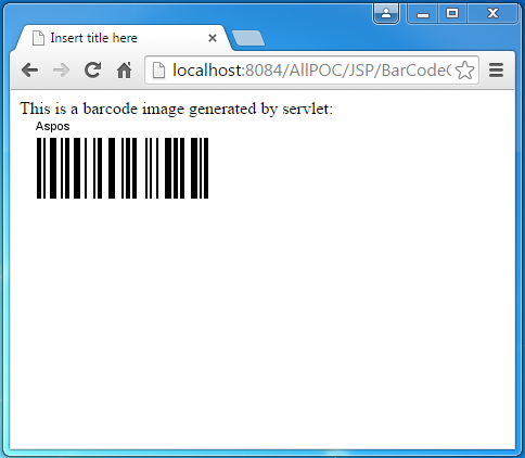 How to create Bar Code in java (using aspose and itext