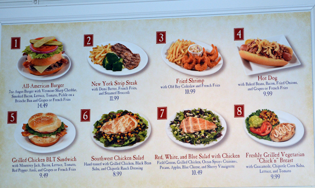 Informações do restaurante Liberty Inn no Epcot em Orlando