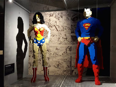 Wonder Woman and Superman in lego form