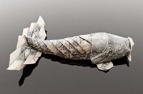 KOI FISH Diagram (5 of 5) Money Origami Dollar Bill Art   Dollar ...   331x500