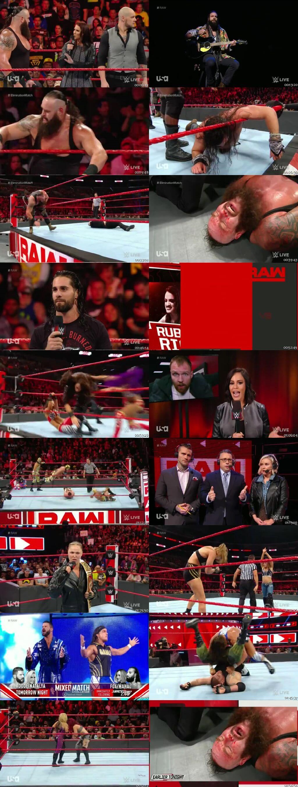 Screen Shot Of Wrestling TV Show WWE Monday Night Raw 19th November Watch Online Free Download