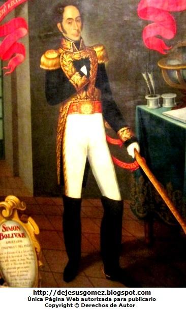 Retrato de Simón Bolivar, pintura de Simón Bolivar. Foto de Simón Bolivar tomada por Jesus Gómez
