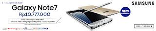 Promo Preorder Samsung Galaxy Note7