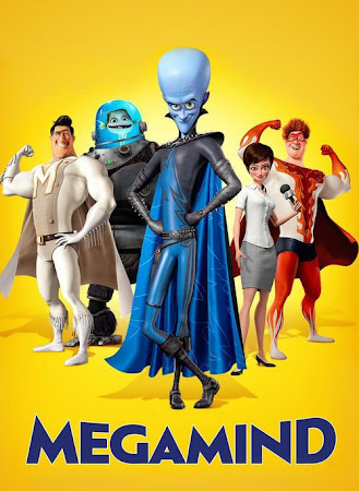 Poster Of Megamind In Dual Audio Hindi English 300MB Compressed Small Size Pc Movie Free Download Only At worldfree4u.com