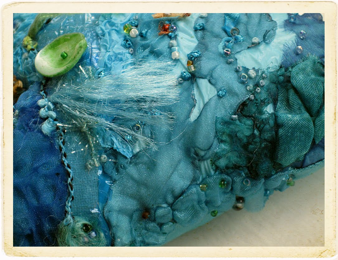 Carolyn Saxby Mixed Media Textile Art The Sparkle Of The Sea