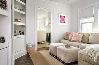 Dekorasi minimalis untuk ruang keluarga dekat dengan kamar