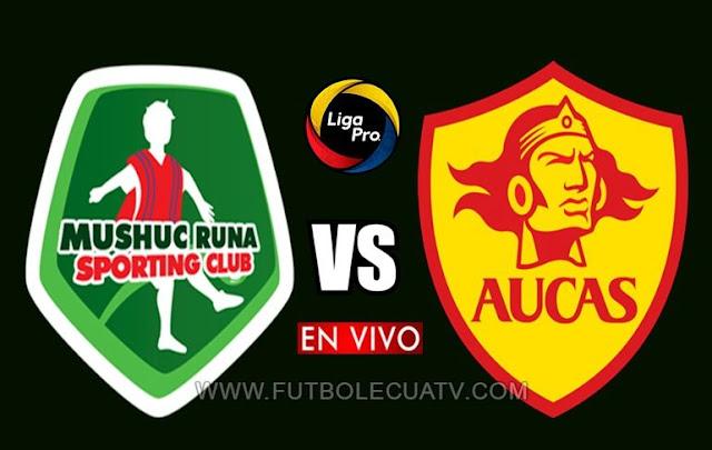 Mushuc Runa y Aucas se miden en vivo a partir de las 13h15 horario de nuestro territorio por la jornada 20 de la Liga Pro a realizarse en el reducto Bellavista, siendo el árbitro principal Augusto Aragon con transmisión del canal oficial GolTV Ecuador.