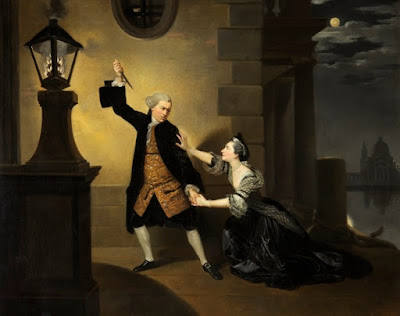 David Garrick as Jaffier and Susannah Cibber as Belvidera in Venice Preserved by Johan Zoffany