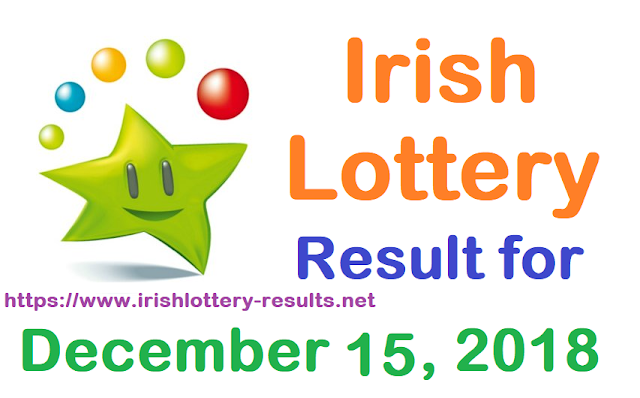 Irish Lottery Result for Saturday, 15 December 2018