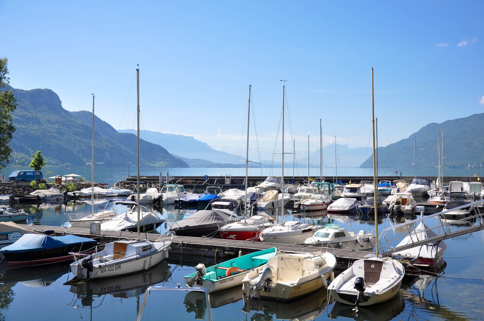 Marina on the shores of Lake Bourget, France's largest lake