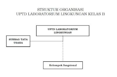 STRUKTUR ORGANISASI UPTD LABORATORIUM LINGKUNGAN KELAS B