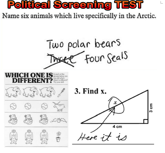 VernonBlog: All Party Screening Test(s) for MP's (ANSWER
