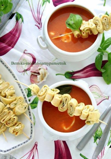pomidorowa, zupa, nalesniki, szaszlyk, obiad, bernika, kulinarny pamietnik
