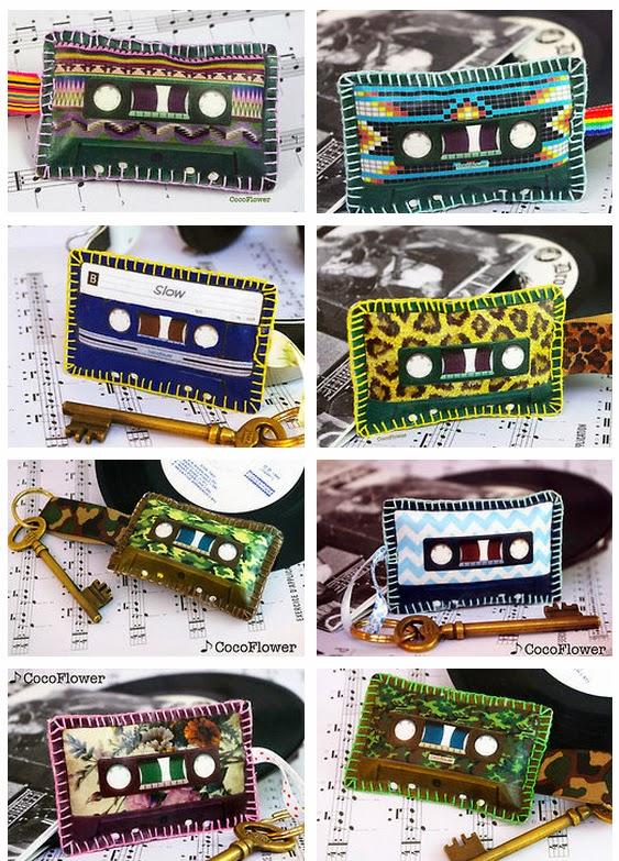 Les cassettes porte-clés - par CocoFlower - www.cocoflower.net