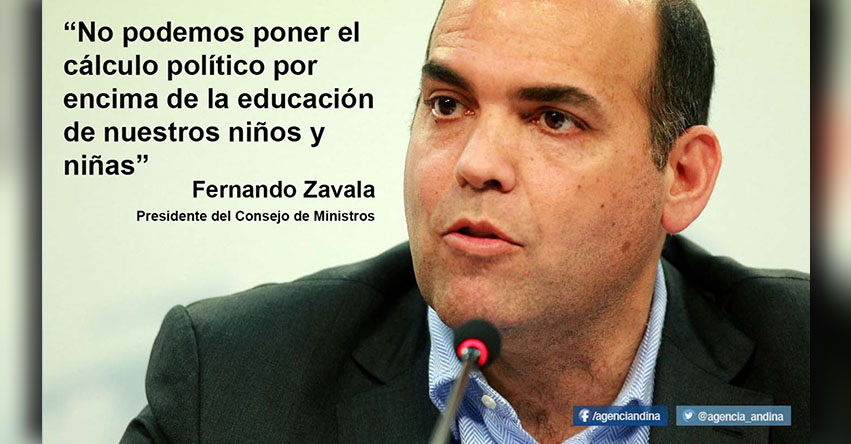CUESTIÓN DE CONFIANZA: Las contundentes frases de Fernando Zavala a nombre del Gabinete