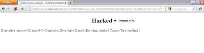 CRLF Injection Pada HTTP Header