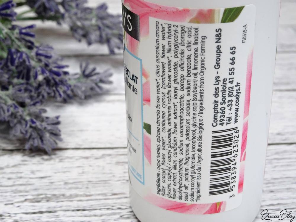 Coslys płyn do demakijażu z ekstraktem z lilii, dobry płyn do demakijażu, naturalny płyn do demakijażu, łagodny płyn do demakijażu