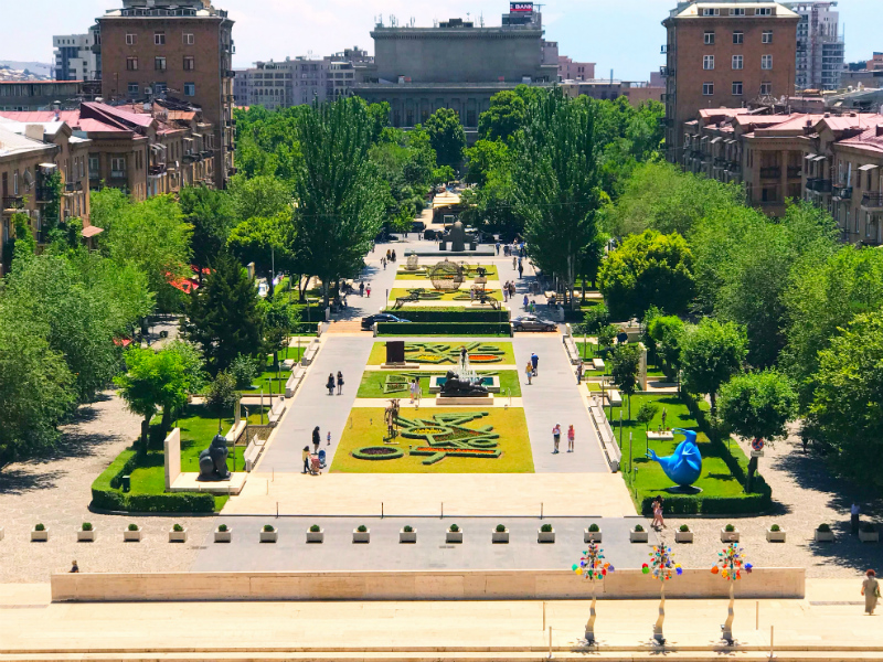 Yerevan City View from Cascade Complex