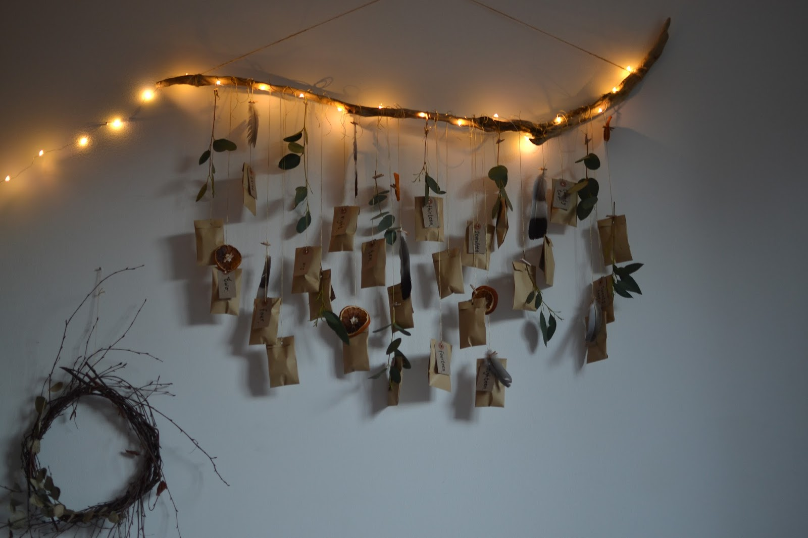 nature inspired lighting. Christmas 2016 - A DIY Nature Inspired Advent Calendar Lighting