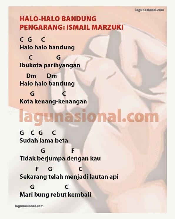 Ukulele halo ukulele chords : Nasional Halo-Halo Bandung Lirik dan Chord Ciptaan Ismail Marzuki