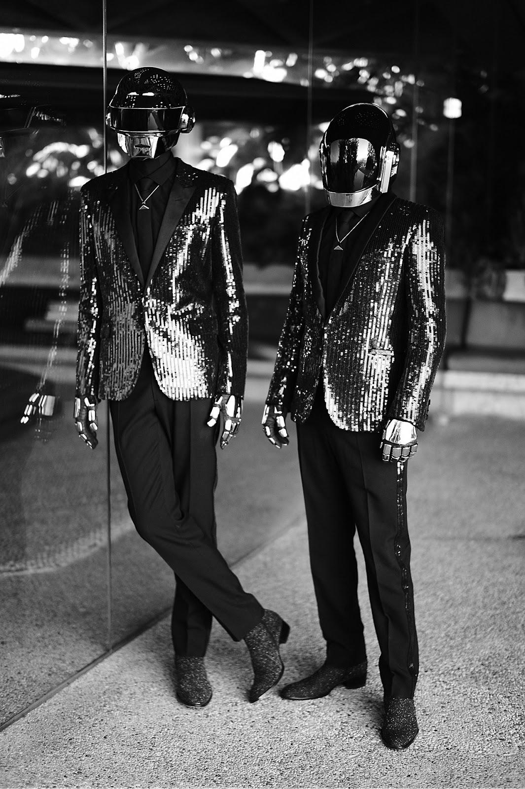 Daft Punk In Saint Laurent Glitter Le Smoking Du