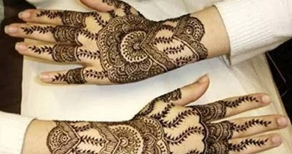 Inai Gambar Henna Tangan Sederhana