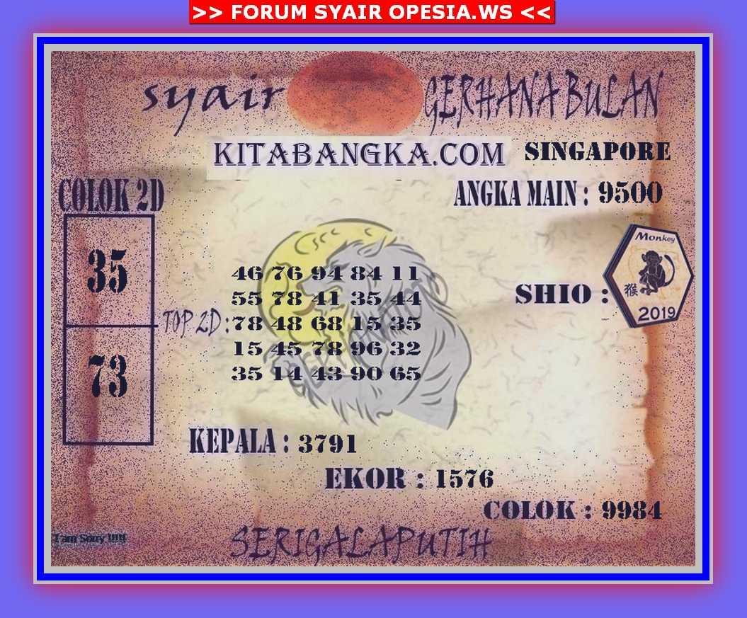 Kode syair Singapore Sabtu 9 November 2019 91
