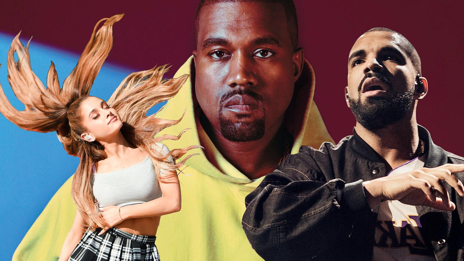 Resumindo a treta: Kanye West disse que o Drake o ameaçou de morte e a Ariana Grande lançou mais um single incrível.